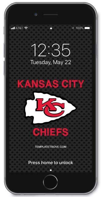 kansas city chiefs lock screen schedule  iphone