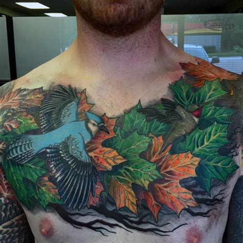 tattoo leaves chest 80 maple leaf tattoo designs for men canadian and