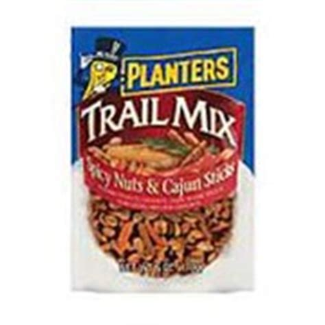 Planters Cajun Trail Mix by Planters Trail Mix Spicy Nuts Cajun Sticks Calories Nutrition Analysis More Fooducate