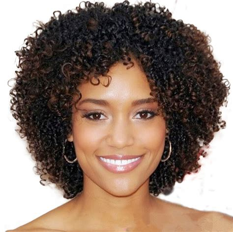 tinted short afro hair amazon com wigs for black women short curly synthetic