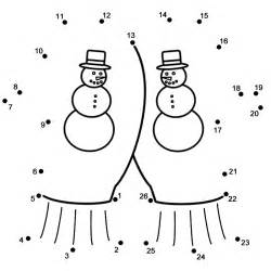 Mittens  Connect The Dots Count By 1s Winter sketch template