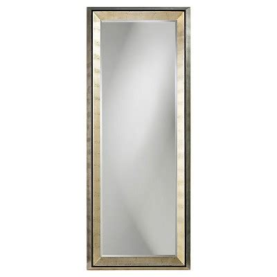 rectangle detroit floor mirror light silver howard elliott target