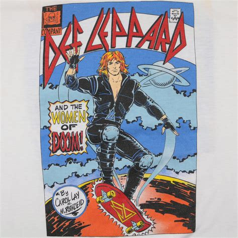 def leppard women def leppard and the women of doom shirt 1987 wyco vintage