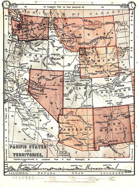 map of wyoming and colorado united states digital map library about