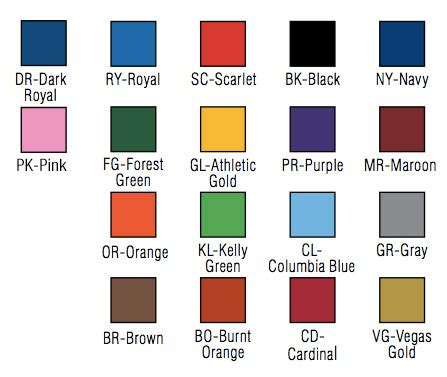 color options bison offers 18 school colors and color graphics