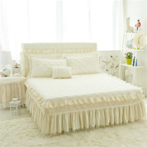 Beige Bed Skirt by
