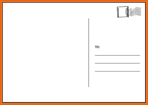 template for a postcard 2 3 blank postcard template genericresume