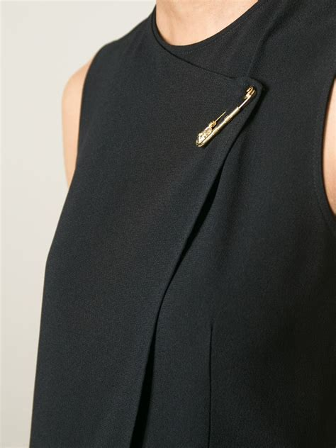 Hoodie Sweater Safety Pin Front Logo lyst versus safety pin detail dress in black