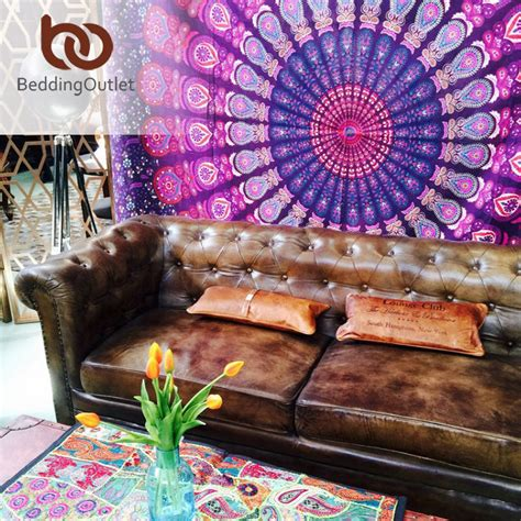 buy indian home decor aliexpress buy beddingoutlet boho tapestry stretches printed hanging wall tapestries