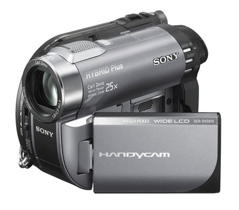 Handycam And sony dcr dvd810 1mp dvd hybrid plus handycam camcorder with 8gb memory 25x optical zoom