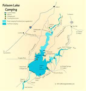folsom california map folsom lake cing map