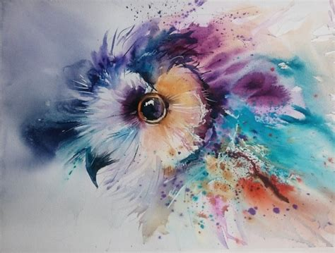 natalie graham owl watercolour painting artists
