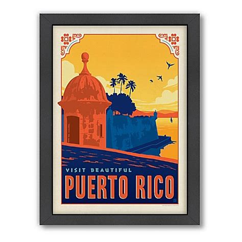 bed bath and beyond puerto rico world travel puerto rico framed wall art by anderson