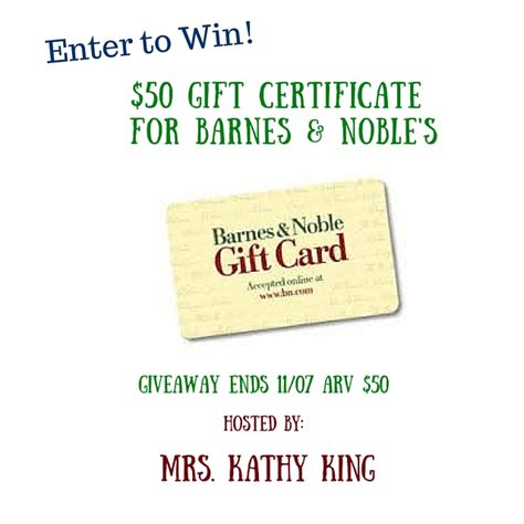 Barnes Noble Gift Cards - win a 50 barnes noble gift card it s free at last