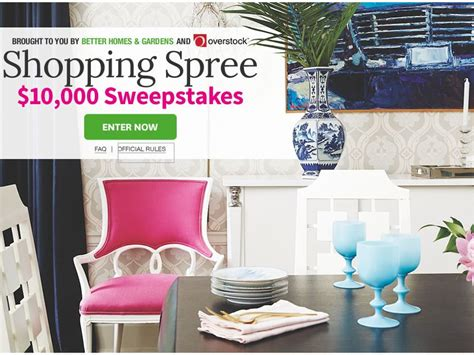 better homes and gardens sweepstakes the better homes garden 10 000 shopping spree sweepstakes