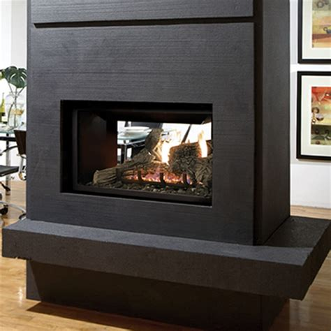 kingsman direct vent see through fireplace