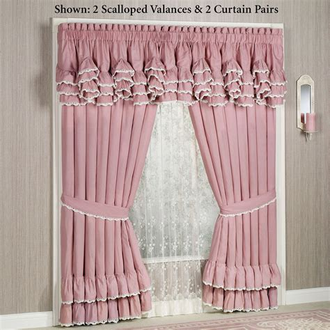 scalloped curtains memories scalloped valance window treatment