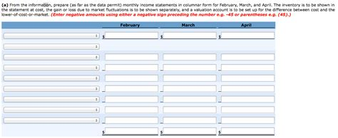 monthly income statement income spreadsheet monthly
