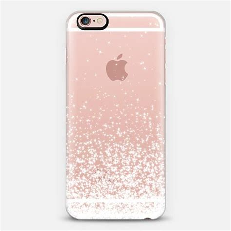 Casing Iphone 6 6s Cover Loving white sparkles transparent a website i am and cases