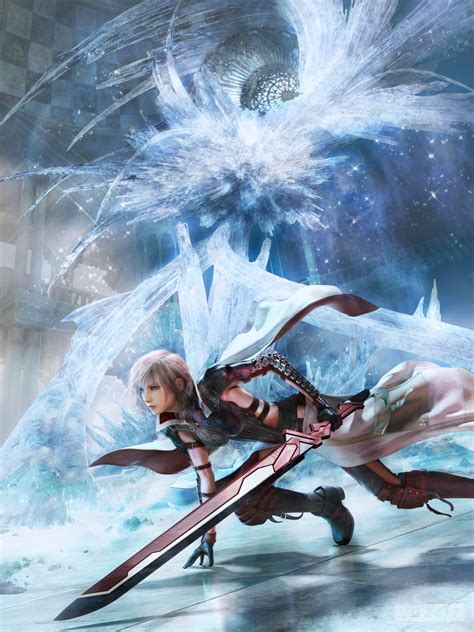 xiii the art of lightning returns final fantasy 13 shots show snow in game battles vg247