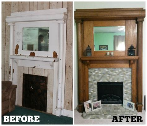 Before And After Fireplaces by Fireplace Before And After Family Homestead