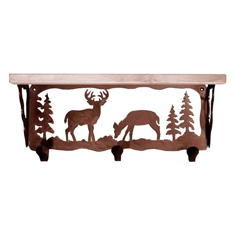 Coat Rack With Shelf by Deer Family Coat Rack With Shelf 20 Inch