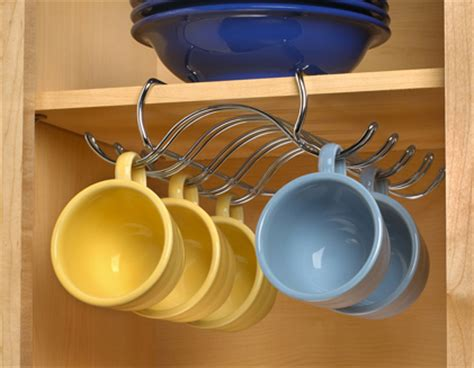 Cabinet Coffee Cup Rack by Chrome Coffee Cup Mug Rack Holder Cabinet Organizer New Ebay