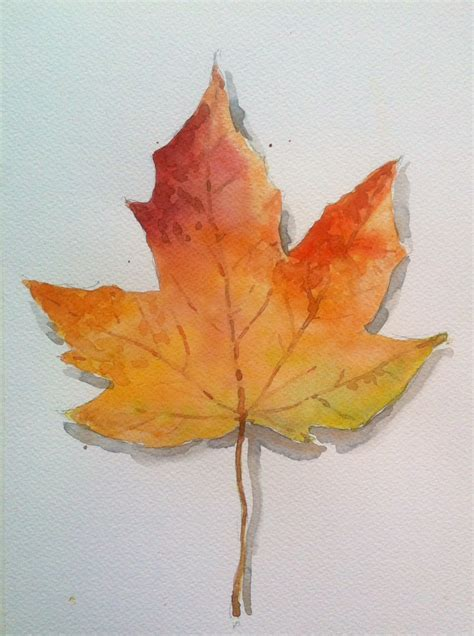 Autumn Leaf watercolor fall autumn leaf maple leaves ahorn efter 229 rs
