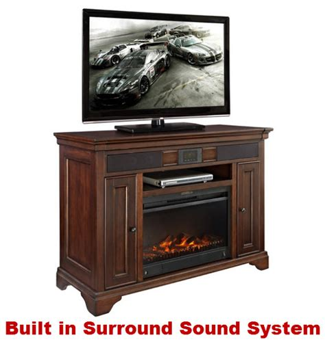 Electric Fireplace With Sound by Electric Fireplace Media Console With Surround Sound