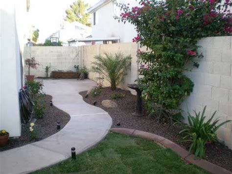 backyard com idea for our long side yard so its not all cement or grass