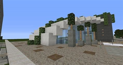 organic house flash eco organic modern house minecraft project