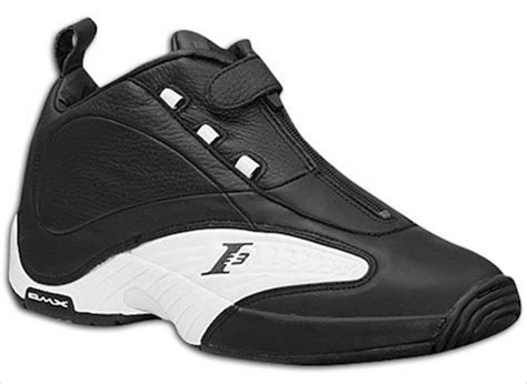 allen iverson shoes black and white