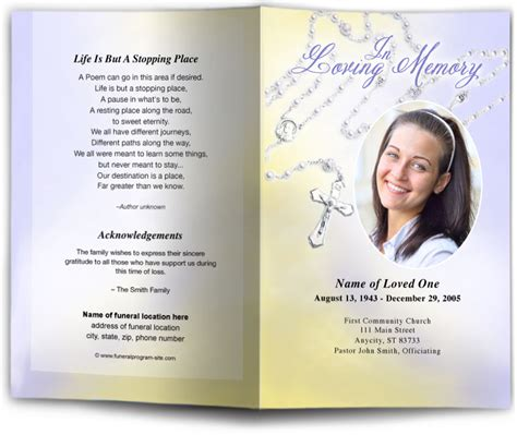 Template For Faith Based Health And Wellness Programs Collaboration Catholic Funeral Program Templates Motavera
