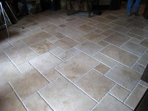 backyard tile travertine french pattern tiles