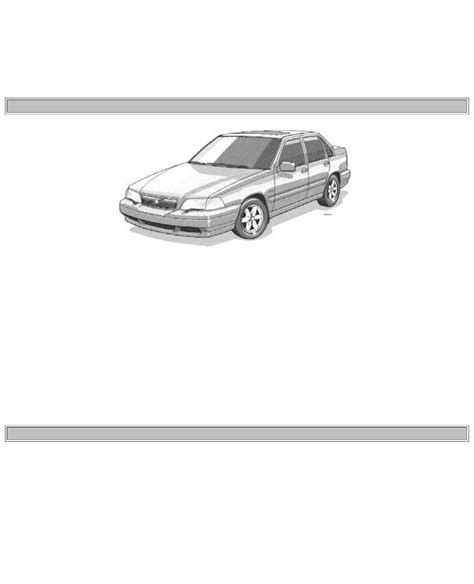 service manual pdf 1998 volvo s70 workshop manuals