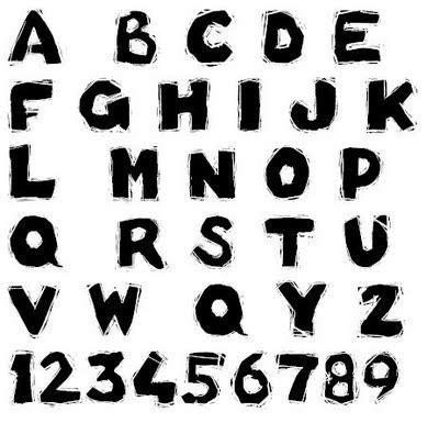 graffiti style graffiti alphabet   black numbers