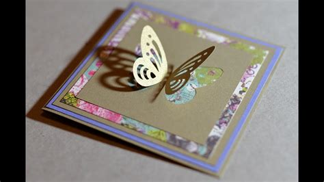 spring greeting card  butterfly step