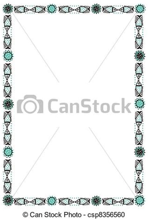 Retirement Home Design Plans vector clipart of fish frame border scalable vectorial