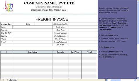 shipping invoice template word invoice template 2017
