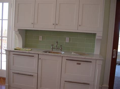 cut glass backsplash traditional kitchen denver by