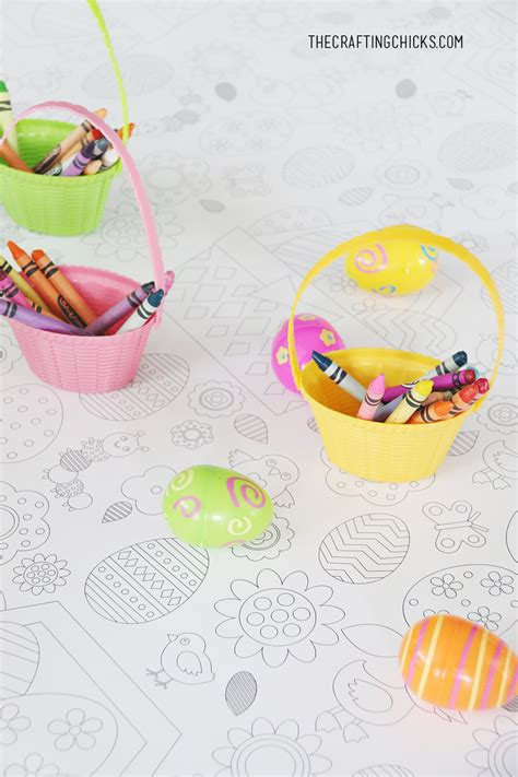 easter colors 2017 printable easter coloring tablecloth the crafting chicks