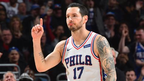 jj redick tattoo jj redick explodes for 29 points to lead sixers past magic