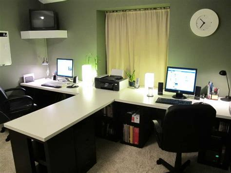 Home Office Desk For Two Best 25 Two Person Desk Ideas On Pinterest 2 Person Desk Gaming Desk Chair And Home