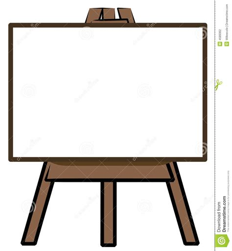 Standing Board Standing Frame Black Board Papan Tulis Mini white board on easel stock vector illustration of display