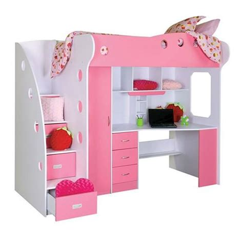 nika loft bedworkstation pink  jyskca epic wishlist