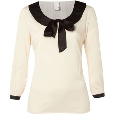 Blue Sailor Wide Collar Blouse just skirts and dresses bow tie blouse ideas