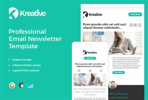 700 Free Newsletter Templates That Look Great On Mobile Mobile Newsletter Template