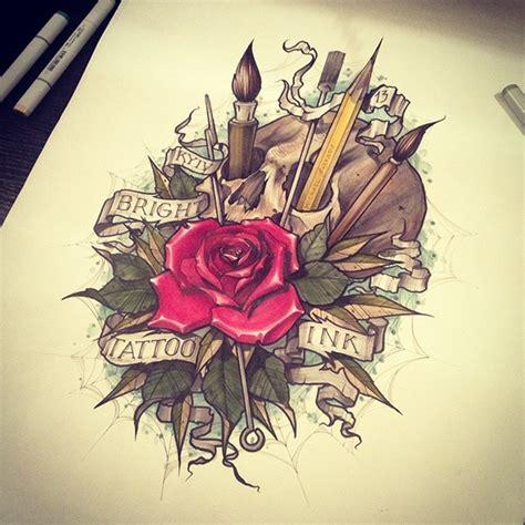 tattoo ink pencil bright ink tattoo studio on behance