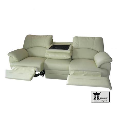 divani recliner divano relax motorizzato con 2 recliner ecopelle della