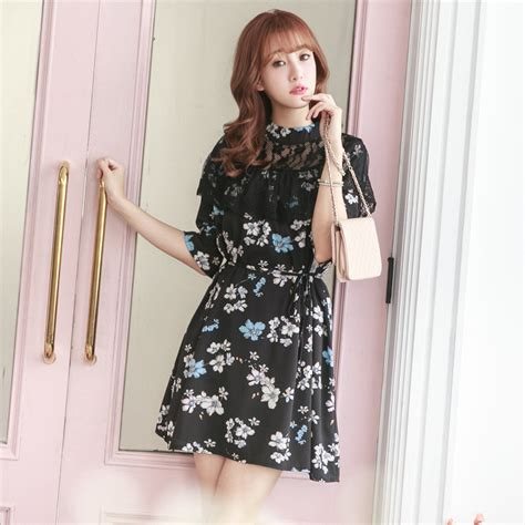 yoco womens lace tiered midi dress japanese korean fashion ebay